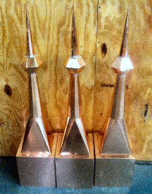Set of 3 matching Copper Projects by Allen Sheet Metal