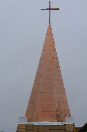Copper Steeple in process
