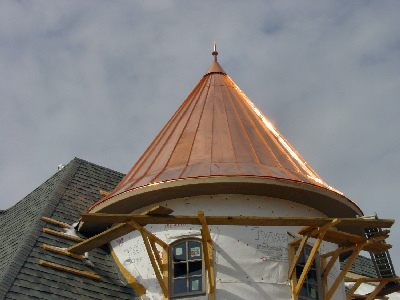Copper Finial on home by Allen Sheet Metal