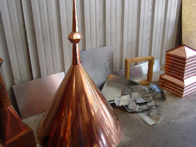 Copper finial in process